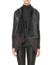 Karl Donoghue | Gray Shearling Gilet | Lyst