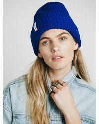Free People | Blue Womens Good Stuff Beanie | Lyst