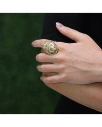 Pamela Huizenga | Metallic Fossilized Coral Ring | Lyst