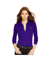 Polo Ralph Lauren - Purple Long-sleeve Stretch Polo - Lyst