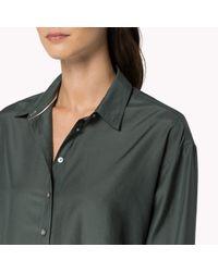 Tommy Hilfiger Green Boyfriend Fit Shirt