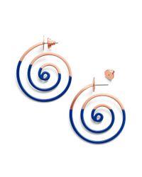 Tory Burch Blue Spiral Dipped Earring
