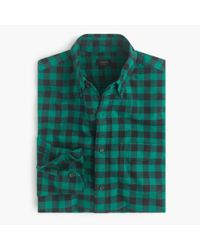 J.Crew Green Slim Vintage Oxford Shirt In Buffalo Check for men