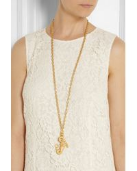 Valentino - Metallic Aries Gold-Tone Necklace - Lyst