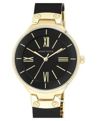 Anne Klein | Metallic Plastic Bangle Watch | Lyst