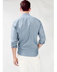 Mango - Blue Slim-Fit Houndstooth Shirt for Men - Lyst
