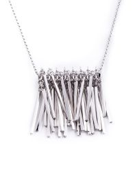 Eddie Borgo | Metallic Fringed Pendant Necklace | Lyst