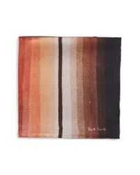 Paul Smith | Brown 'mainline' Silk Pocket Square for Men | Lyst