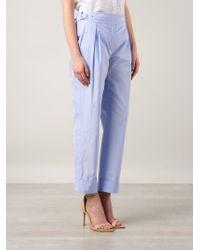 Nina Ricci - Purple Front Pleat Trousers - Lyst