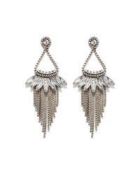 Forever 21 - Metallic Chained Chandelier Earrings - Lyst