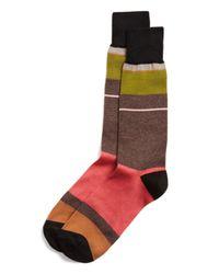 Paul Smith - Red Panel Stripe Socks for Men - Lyst