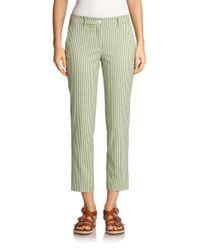 Michael Kors   Green Gingham Cropped Pants   Lyst