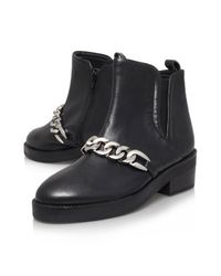 TOPSHOP Black Salvation Ankle Boots By Kg Kurt Geiger