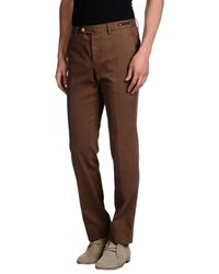 PT01 - Brown Casual Trouser for Men - Lyst