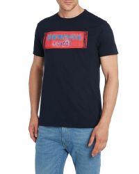 Ben Sherman | Blue Neon Print Crew Neck Regular Fit T-shirt for Men | Lyst