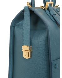 Giorgio Armani - Blue Small Weekend Leather Top Handle Bag - Lyst
