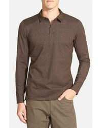 Arc'teryx Brown 'captive' Trim Fit Performance Long Sleeve Polo for men