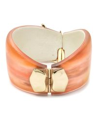 Alexis Bittar - Orange Desert Jasmine Asymmetrical Hinged Bracelet You Might Also Like - Lyst