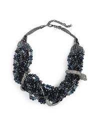 Alexis Bittar | Gray 'wrapping Serpent' Necklace - Gunmetal | Lyst