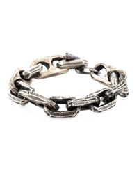 Henson | Metallic Etched Chain Bracelet for Men | Lyst