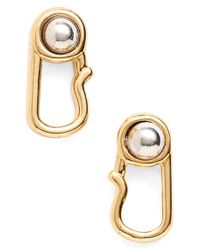 Marc By Marc Jacobs | Metallic Marc Jacobs 'safety Pin' Stud Earrings | Lyst