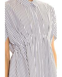 Victoria, Victoria Beckham - White Striped Dress - Lyst