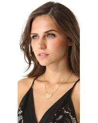 Jennifer Zeuner - Metallic Solid Heart Necklace - Lyst