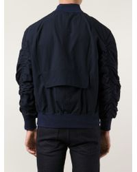 Fear Of God Blue Zip Up Bomber Jacket for men