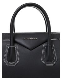 Givenchy - Black Medium Antigona Leather Bag W/stitching - Lyst