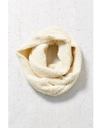 Urban Outfitters White Sherpa Eternity Scarf