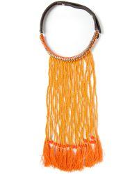 P.A.R.O.S.H. - Orange Afrinek Necklace - Lyst