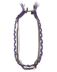 Venessa Arizaga | Purple Mixed Chain Necklace | Lyst