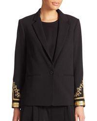 ABS By Allen Schwartz | Black Embellished Cocktail Blazer | Lyst