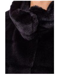 Basler - Gray Fake Fur Jacket - Lyst
