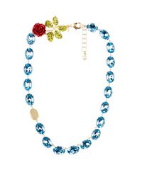 Dolce & Gabbana | Blue Crystal-embellished Necklace | Lyst