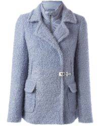 Fay Blue Padded Lining Double Breasted Coat