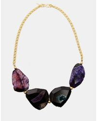 Kenneth Jay Lane | Multicolor Chunky Stone Necklace | Lyst