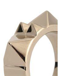 Valentino | Metallic Rockstud Gold Tone Ring | Lyst