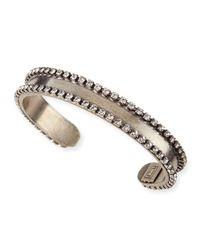 DANNIJO - Gray Lane Chain & Crystal Cuff Bracelet - Lyst