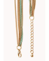 Forever 21 - Green Gone Boho Layered Necklace - Lyst