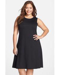 Lyssé Black 'margot' Sleeveless Fit & Flare Dress