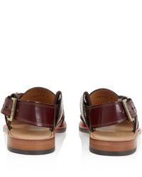 Paul Smith - Brown Robert Cross Leather Sandals - Lyst