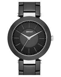 DKNY | Black 'stanhope' Bracelet Watch | Lyst