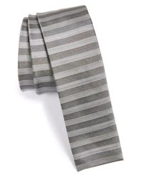 W.r.k. | Metallic Stripe Silk Tie for Men | Lyst