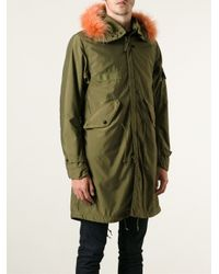 Stone Island Green Loose Fit Parka for men