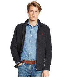Polo Ralph Lauren - Black French-rib Full-zip Jacket for Men - Lyst