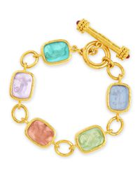 Elizabeth Locke | Multicolor Antique Animals Intaglio 19K Toggle Bracelet | Lyst
