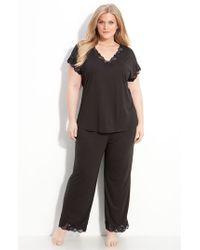Natori | Black 'zen Floral' Pajamas | Lyst