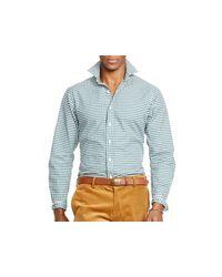 Ralph Lauren   Green Polo Checked Poplin Estate Shirt for Men   Lyst