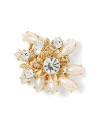 Banana Republic | White Pearl Cluster Pin | Lyst